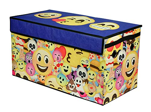 Emoji Pals WK690568 Graphic Print Collapsible Storage Trunk, Multicolor