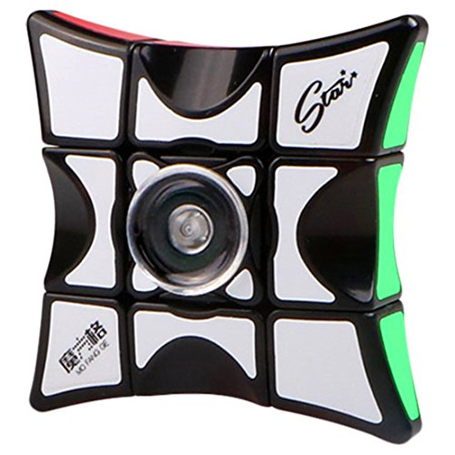 CuberSpeed Qiyi 1x3x3 Super Floppy Black Magic Cube 3x3x1 Speed cube