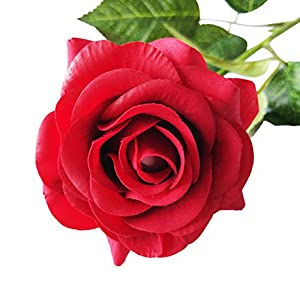 VORCOOL Artificial Rose Flowers Cloth Fake Rose for Party Home Decoration (Red) 38