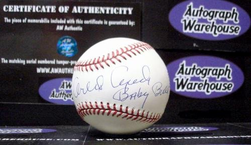 Autograph Warehouse 17350 Orlando Cepeda Autographed Baseball Inscribed Baby Bull Hof from Autograph Warehouse