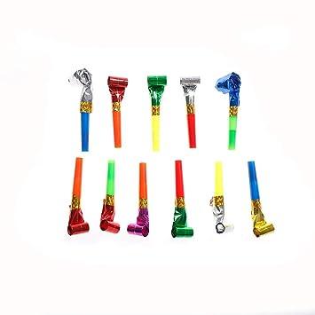 Amazon.com: Juego de 10 piezas de silbatos de plástico para ...