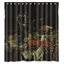 SUNSMILES Christmas Shower Drape Width X Height / 66 X 72 Inches / W * H 168 By 180 Cm(fabric) Nice Choice For Couples Custom Him Family Her. Rust Proof Classic Still Life Art Painting Polyester