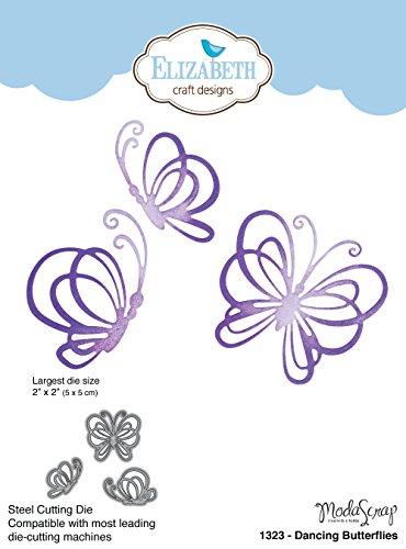 Elizabeth Craft Designs 1323 Metal Die Dancing Butterflies, Largest 2''X2'' by Elizabeth Craft Designs