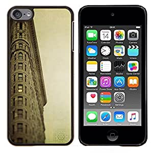 LECELL--Funda protectora / Cubierta / Piel For Apple iPod Touch 6 6th Touch6 -- Arquitectura Retro Mar Ligthouse --