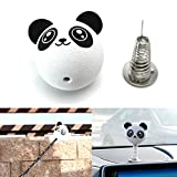 iJDMTOY (1) Cute Panda Antenna Topper w/ Spring Stand To Convert Antenna Ball To Desk or Car Dashboard Bobblehead Toy