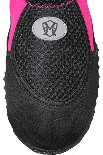 Greg Michaels Womens Water Shoes Aqua Socken - Hohe Haltbarkeit, angenehm zu tragen in Wasser und auf der Oberfläche Fuchsie