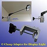 DSM Tm Premium C-clamp Adapter Converter for Pop up Tension Booth Display Light LED / Halogen