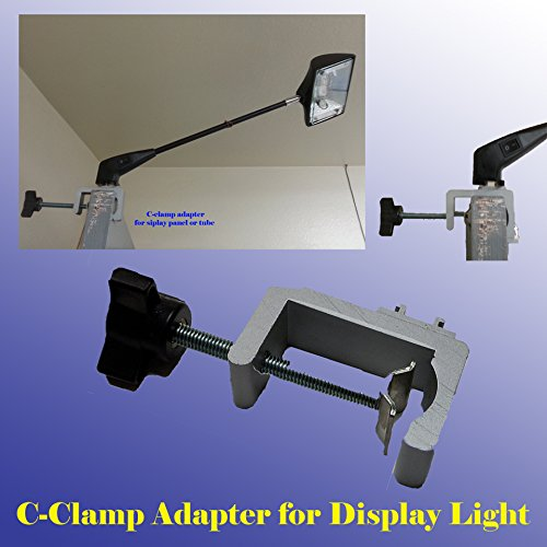DSM Tm Premium C-clamp Adapter Converter for Pop up Tension Booth Display Light LED / (Halogen Clamp)