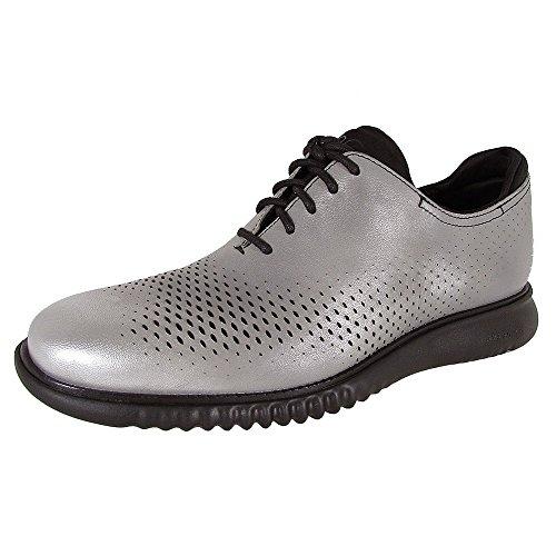 Cole Haan Mens 2 Zerogrand Laser Wingtip Sneaker Shoes, Silver/Black, US 11