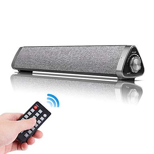 Sanwo Bluetooth Sound Bar Wired and Wireless Home Theater TV Triangle Speaker Bar with Remote Control,TF Card- Surround SoundBar for TV/PC/Phones/Tablets, 2 X 5W Compact Sound Bar 2.0 Channel