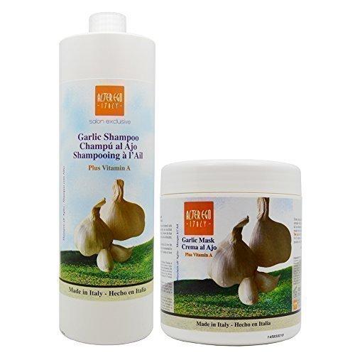 Alter Ego Garlic Shampoo + Garlic Mask w/ Vitamin