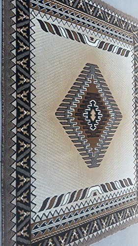 South West Native American Area Rug Berber Design #D143 (5ftx7ft) by Kingdom