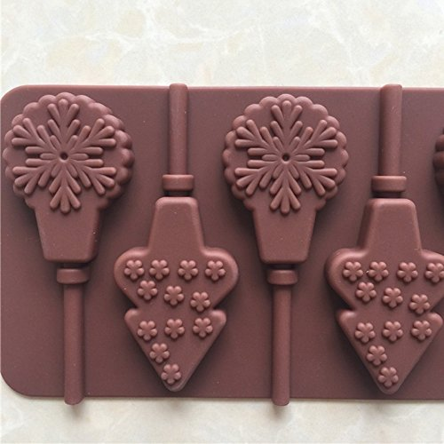 BONYTAIN Waffles Cake Cookie Muffin Bakeware Christmas Lollipop Chocolate Pan Mould Backing Mold Silicone