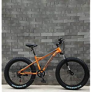 51P3n%2BQNR9L. SS300 WJJH Mountain Bike per Adulti Fat Tire, Doppio Freno a Disco/Bici da Crociera con Telaio in Acciaio ad Alto tenore di Carbonio, Bicicletta da motoslitta da Spiaggia, Ruote da 26 Pollici