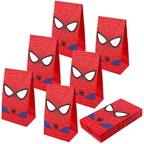 RecooTic Spiderman Party Bags Goodie bags for Kids Superhero Themed Party, Set of