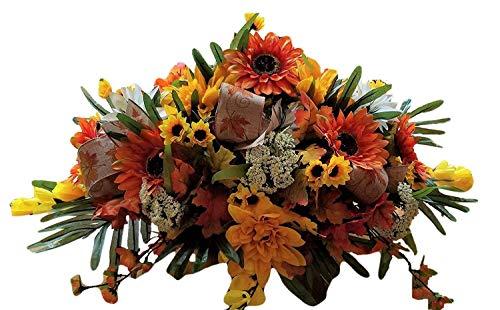 Centerpiece Floral Fall - Flora Decor Autumn Cinder Table Centerpiece