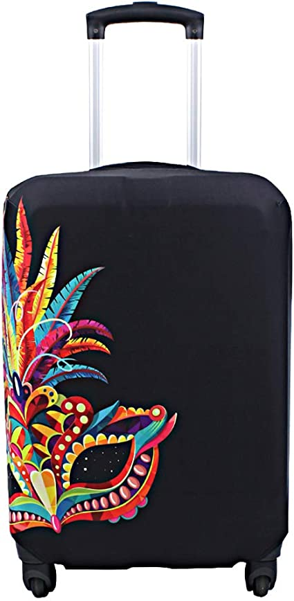 3D Geometric Heart Print Luggage Protector Travel Luggage Cover Trolley Case Protective Cover Fits 18-32 Inch