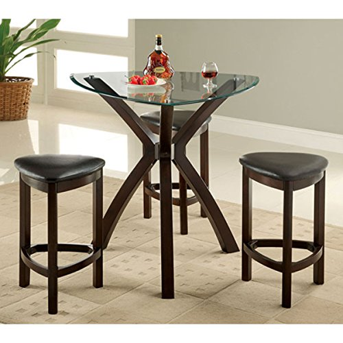 Xanti Contermporary Style Espresso Finish Counter Height Dining Table Set