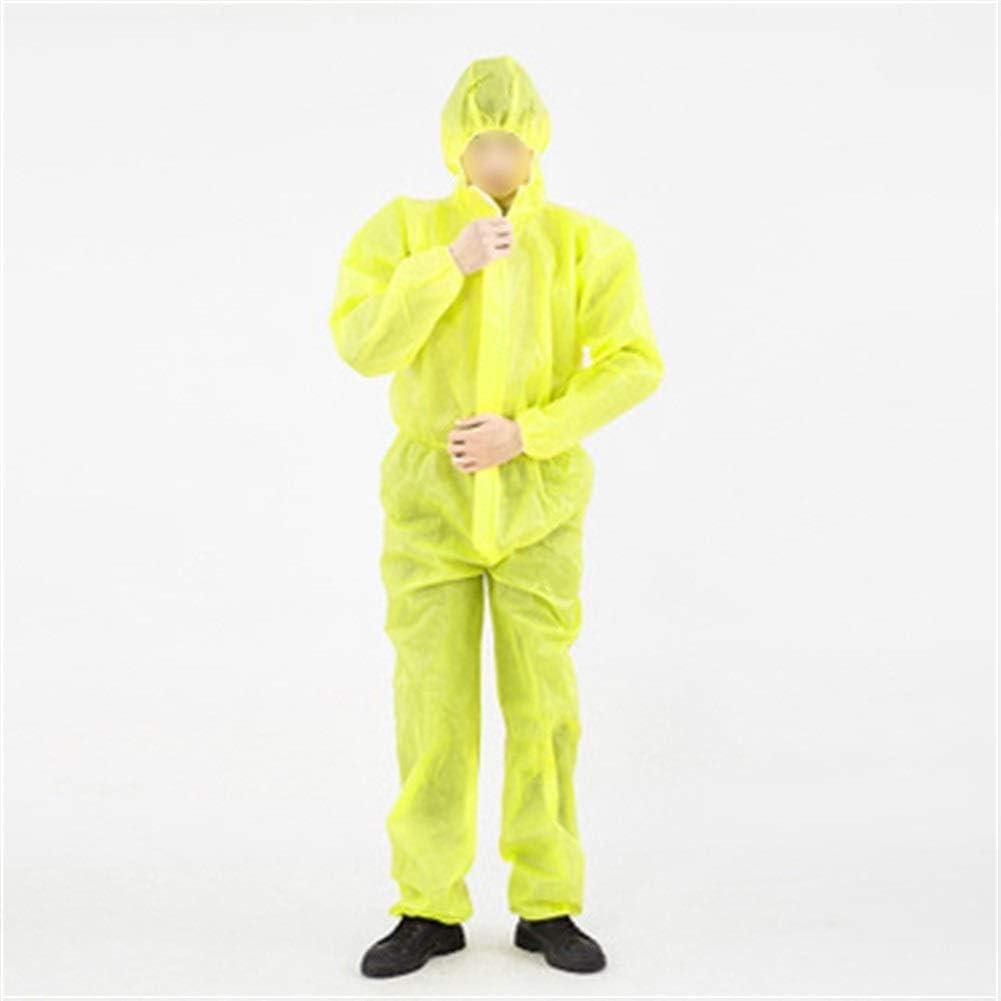 Traje de protección Ácido y álcali resistente al agua Splash ropa de protección química de una pieza a prueba de polvo Ropa de pulverización de pintura ropa d