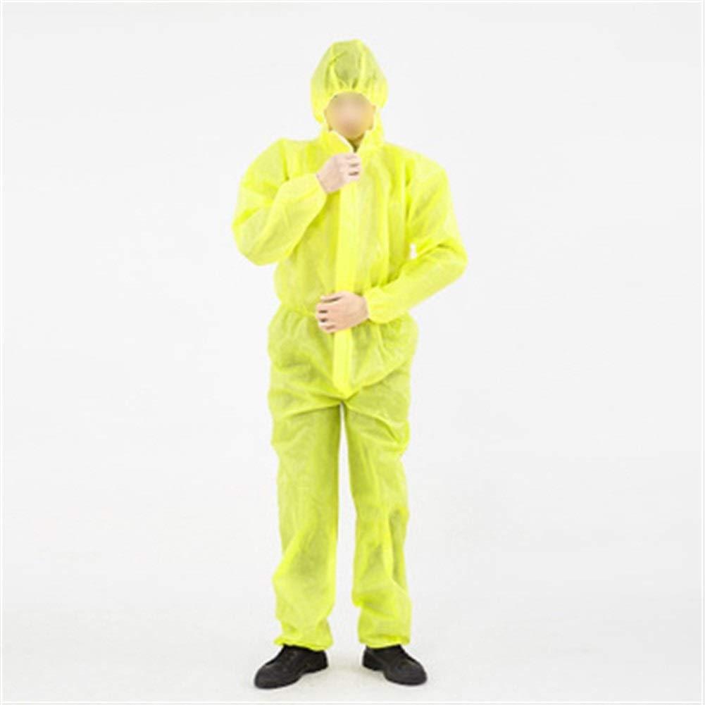 Juego protector reutilizable Ácido y álcali resistente al agua Splash ropa de protección química de una pieza a prueba de polvo Ropa de pulverización de pintura ropa