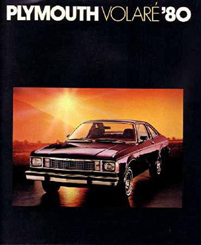 1980 Plymouth Volare Sales Brochure Literature Book Advertisement Options