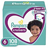 : Diapers Size 6, 108 Count - Pampers Cruisers Disposable Baby Diapers, ONE MONTH SUPPLY