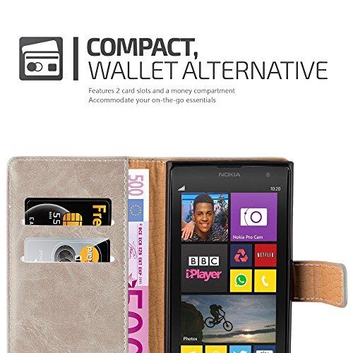 Cadorabo - Funda Estilo Book Lujo para Nokia Lumia 1020 con Tarjetero y Función de Soporte