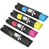 4PK Caire(TM) Compatible for Dell Color Laser 5130 5130CN 5130CDN Toner Cartridge 18,000 pages & 12,000 pages [5130: MYCK]