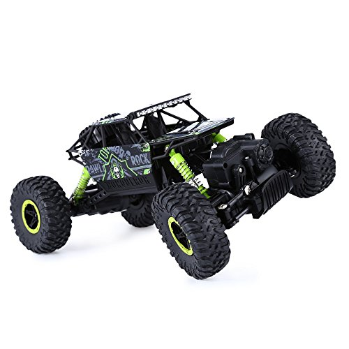 CULER RC Car - Rock Crawler Remote Control RC High Performance Truck 2.4 GHz Control System 4WD All-Weather 1/18 Scale - Off-road Race Trunk Toys (Green)