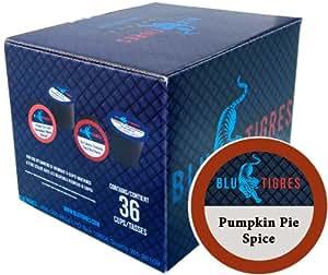 Blu Tigres Single-cup Coffee for Keurig K-Cup Brewers, Pumpkin Pie Spice, 36 Count