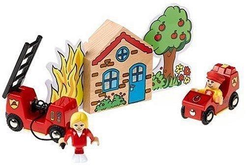 BRIO 33685 Wooden Railway System: Fire Brigade Play Set by Brio by Brio