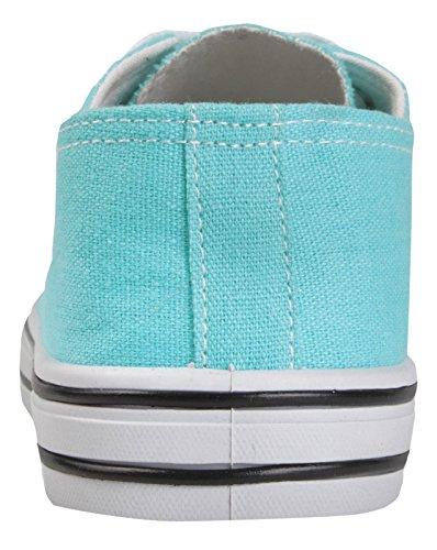 Zapatillas lona turquesa con de Lora cordones Dora v6wrTxvq
