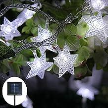 Solar String Lights, Jaragar Outdoor Waterproof String Fairy Lights Star Solar Powered LED Decoration Lights for Patio Gardens Homes Landscape Wedding Party