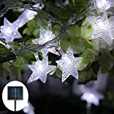 Jaragar Solar String Lights, Outdoor Waterproof String Fairy Lights Star Solar Powered LED Decoration Lights for Patio Gardens Homes Landscape Wedding Party