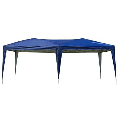 Products Outdoor Portable Adjustable Instant Pop Up Gazebo Canopy Tent w/Carrying Bag,3 x 6m Blue: Sports & Outdoors