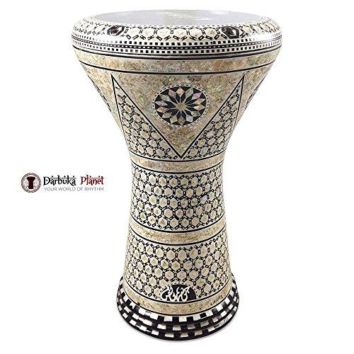 Gawharet El Fan 17'' Mother of Pearl Darbuka ''Nemes'' Darbuka Drum Percussion by Gawharet El Fan