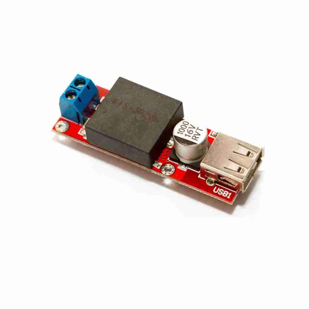 Cubeplug/™ 7V-24V to 5V 3A DC-DC Step Down Converter Buck Module with USB Output KIS3R33S