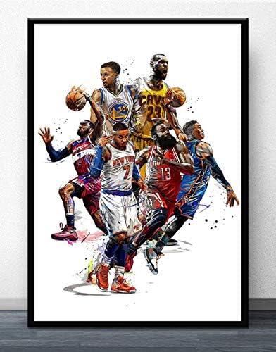 Arter Arte Impreso Lienzo Cartel Mural, Lebron James NBA ...