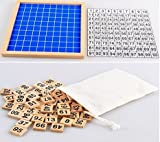 100 number tiles - YEHAM Montessori Game Wooden Hundred Board Number Chart Number Grid Educational Game for Kids