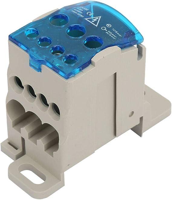 Bo/îte de distribution de bloc Bo/îte de distribution de bornier de rail DIN Connecteur de fil /électrique Bo/îte de jonction dalimentation universelle