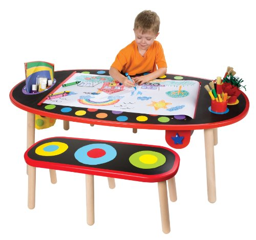 ALEX Toys Artist Studio Super Art Table with Paper Roll]()