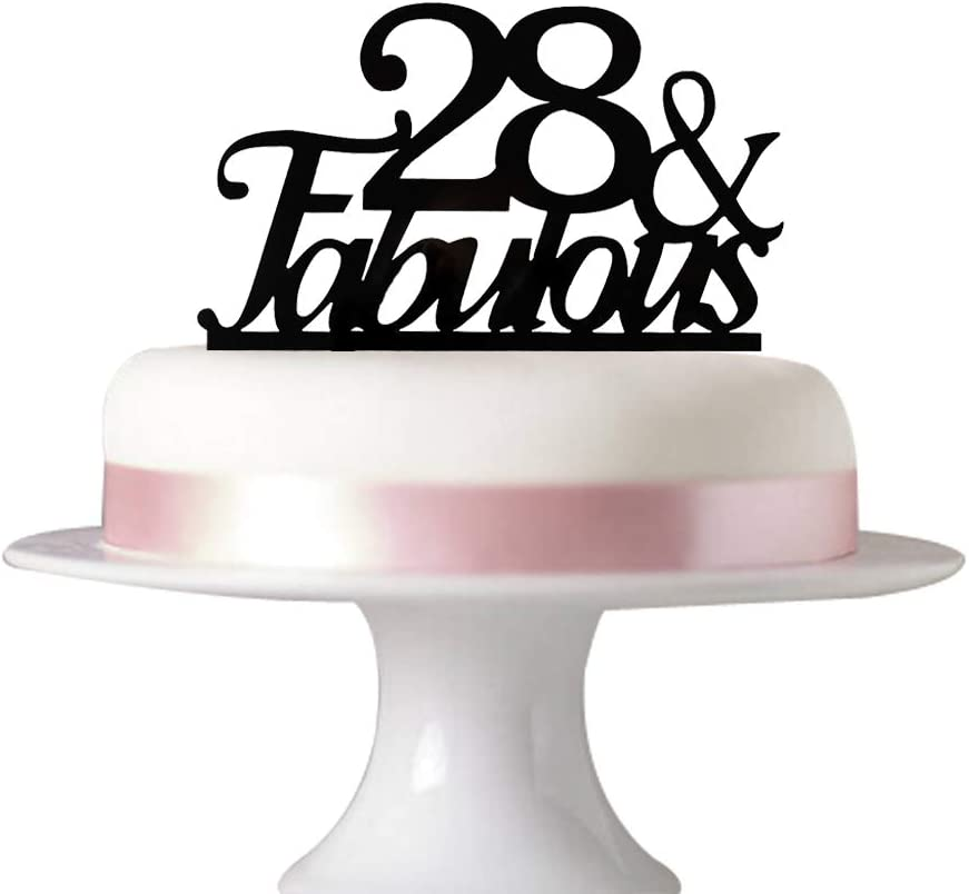 Fantastic Amazon Com 28 Fabulous Cake Topper For 28Th Birthday Party Personalised Birthday Cards Paralily Jamesorg