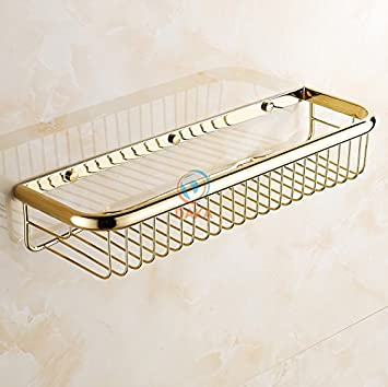 Tougmoo Mode gold Finish Accessoires Badezimmer Dusche Shampoo ...