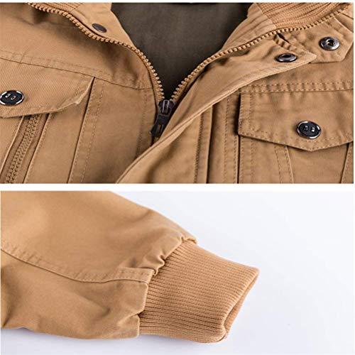 Cotone Casual Armygrün Nappa Lavato In Comodo Autunno Classica Tasche Battercake Multi Uomo Giacche Da 2 fqxwgA