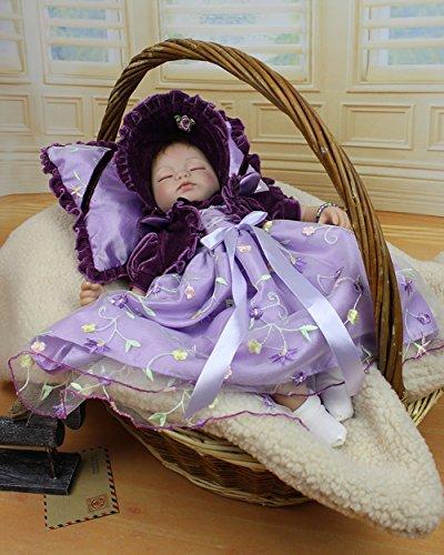 NPK Collection Reborn Baby Doll Lovely Girl Cute Baby Birthday Gift Silicone Vinyl 18inch/45cm