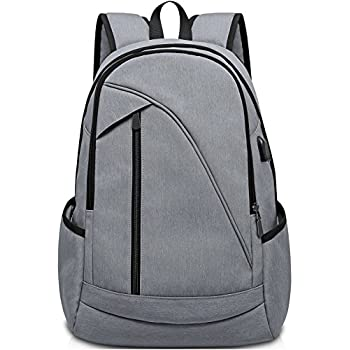 ibagbar Water Resistant Laptop Backpack Fits up to 15.6-Inch Laptop and Notebook Gray