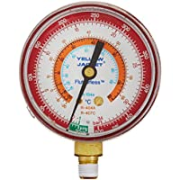 Yellow Jacket 49063 2-1/2 Gauge (degrees C), Red Pressure, bar/psi, R-134A/404A/407C