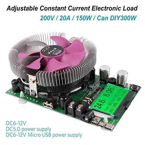 MakerHawk Electronic Load Tester USB Load Tester 150W 200V 20A Resistor Adjustable Constant Current Battery Capacity Tester Module Intelligent Discharge Resistance Power Tester