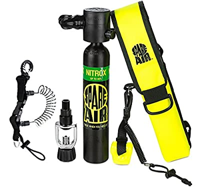Submersible System Spare Air Model 300 Package Kit 3.0 cu ft - Nitrox w/Coil Lanyard