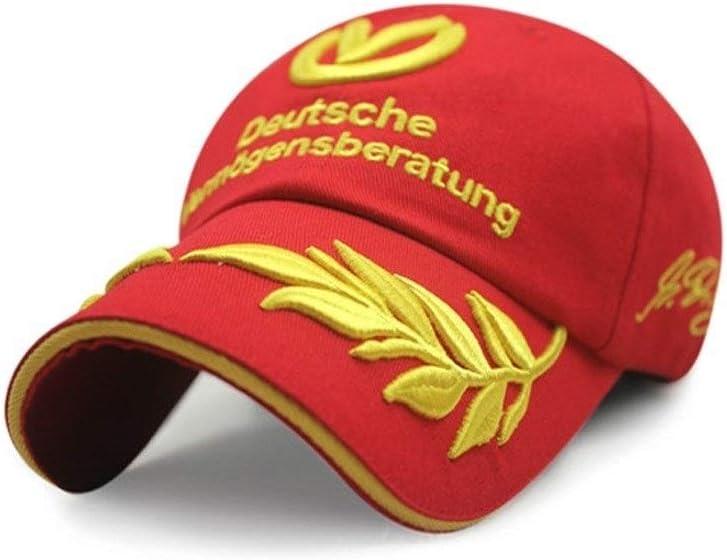 COCNI Nuova estate visiera regolabile Baseball Cap 2020 Cappelli Uomo Donna Cappelli di F1 Michael Schumacher che corre la protezione Mens Cappello grano Ricama Copricapo allaperto Cappello for il so